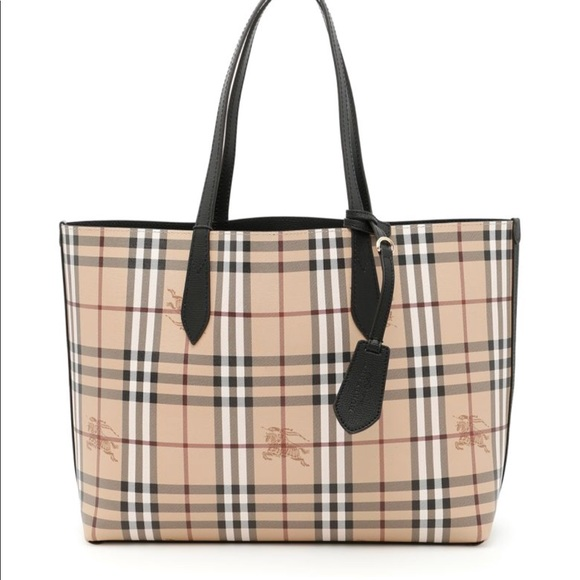 f24fc63445d3 Burberry Handbags - Medium Reversible Leather Tote Bag Burberry